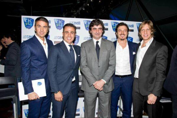 C.I.C. Conferenza Stampa 31 gennaio 2013 - Billy Costacurta, Fabio Cannavaro,Paolo Taveggia, Massimo Oddo, Massimo Ambrosini(2)
